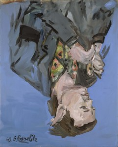 Georg Baselitz, Da. portrét (Franz Dahlem) 1969, zdroj: www.galerierudolfinum.cz