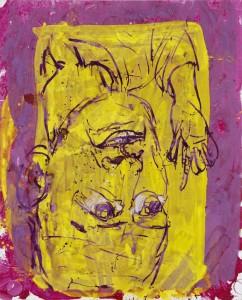 Georg Baselitz, Autoportrét Hlupák, 1997, zdroj: www.galerierudolfinum.cz