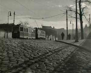 Tramvaj v ulici Na Slupi
