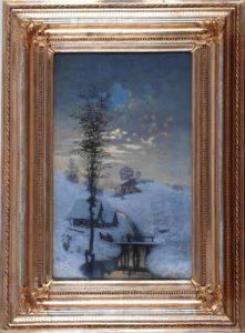 Antonín Chittussi, Zimní krajina; zdroj: http://pater.cz/vcg/svitani-v-sadu-krajinomalba-ze-sbirek-vcg-v-pardubicich