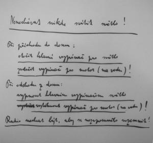 Rukopis Karla Čapka; zdroj: cs.wikipedia.org
