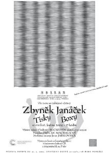 Plakát k výstavě Boxy tisky