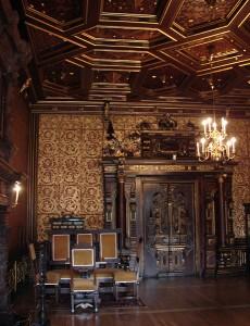 Zlatý sál, zdroj: www.hradek-nechanice.cz