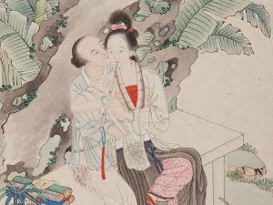 Foto: Národní galerie v Praze, List z čínského erotického alba, pozdní dynastie Čching