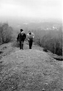 Jan Balabán a Petr Hruška při výstupu na haldu Ema. Foto Martin Popelář.