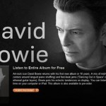 Nové album Davida Bowieho 'The Next Day' je celé k poslechu ZDARMA