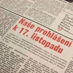 17. listopad 1989 – jak to bylo. Ví to vůbec někdo?