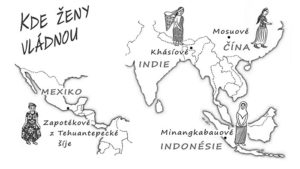 mapa Kde ženy vládnou, zdroj:http://www.katerinakaraskova.cz