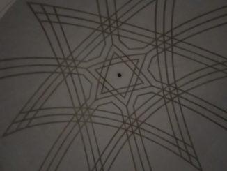 Strop v Nové synagoze, zdroj:vlastní foto